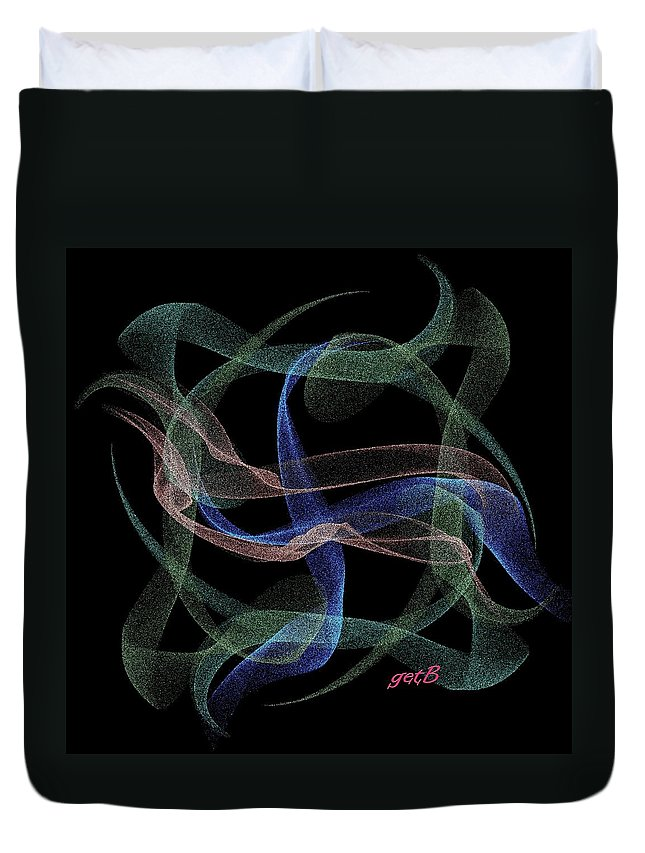 Abstract Art Duvet Cover featuring the painting Unveiled Dream Digital Art by Georgeta Blanaru