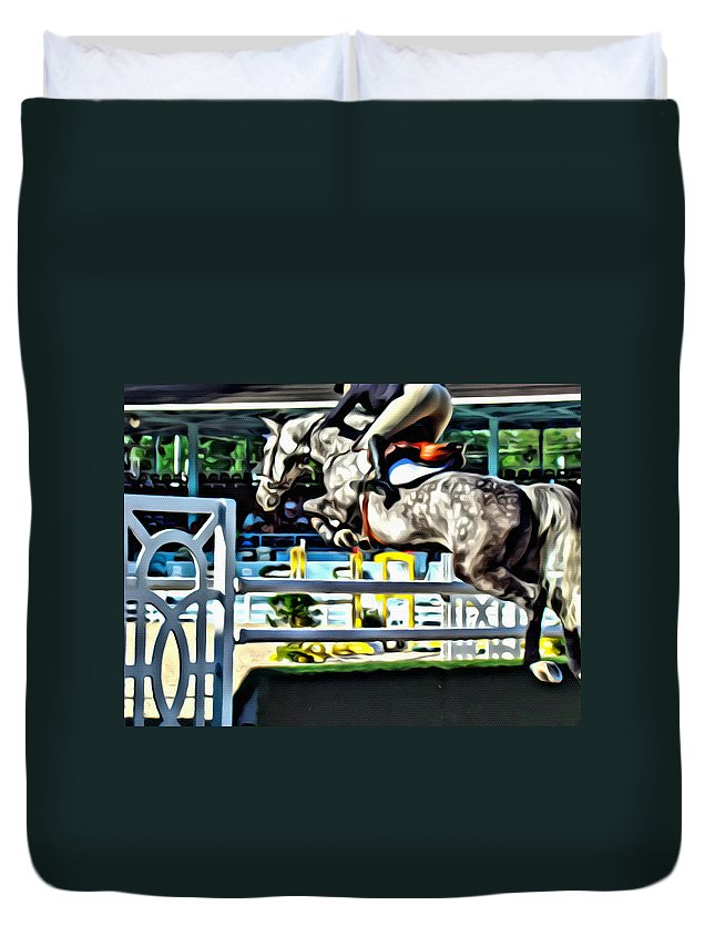 Horse Duvet Cover featuring the photograph Up by Alice Gipson