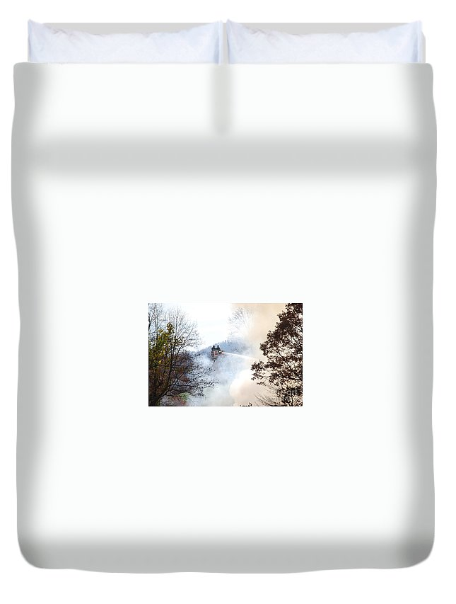 Fire Duvet Cover featuring the photograph Up In Smoke by Eric Liller