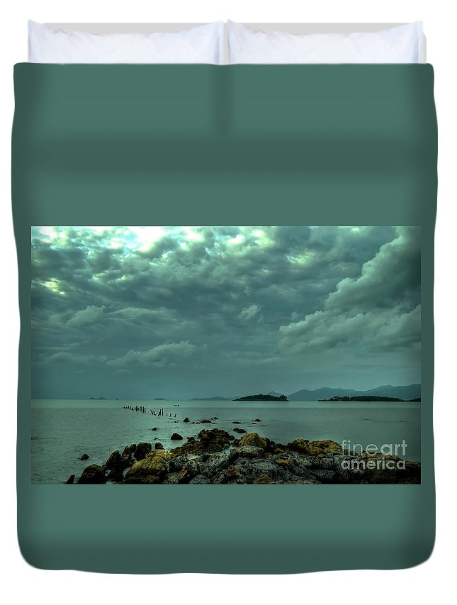Michelle Meenawong Duvet Cover featuring the photograph Upcoming Rain by Michelle Meenawong
