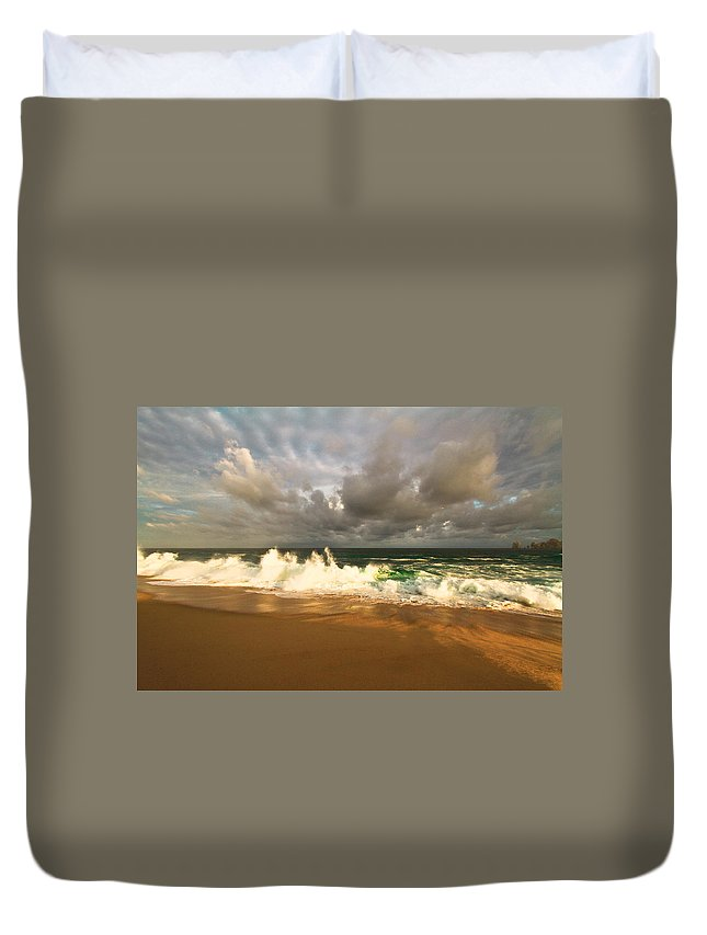 Sky Duvet Cover featuring the photograph Upcoming Tropical Storm by Eti Reid