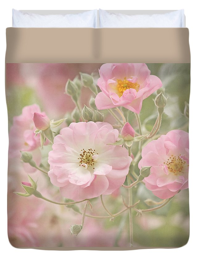 Flower Duvet Cover featuring the photograph Uplifting by Kim Hojnacki