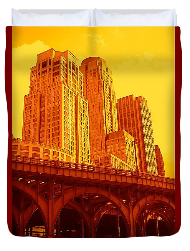 Manhattan Prints And Posters Duvet Cover featuring the photograph Upper West Side And Hudson River Manhattan by Monique's Fine Art