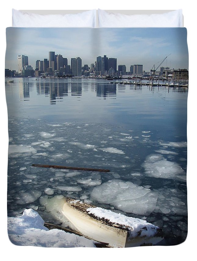 Boat Duvet Cover featuring the photograph Upside Down by Robert Nickologianis