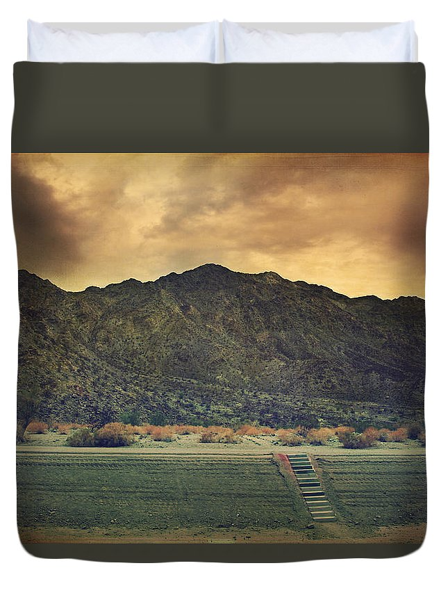 La Quinta Duvet Cover featuring the photograph Upstairs by Laurie Search
