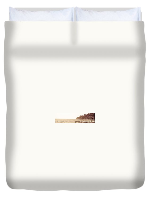 West Beach Duvet Cover featuring the photograph Urban Abstract Coast Line by David Fabian
