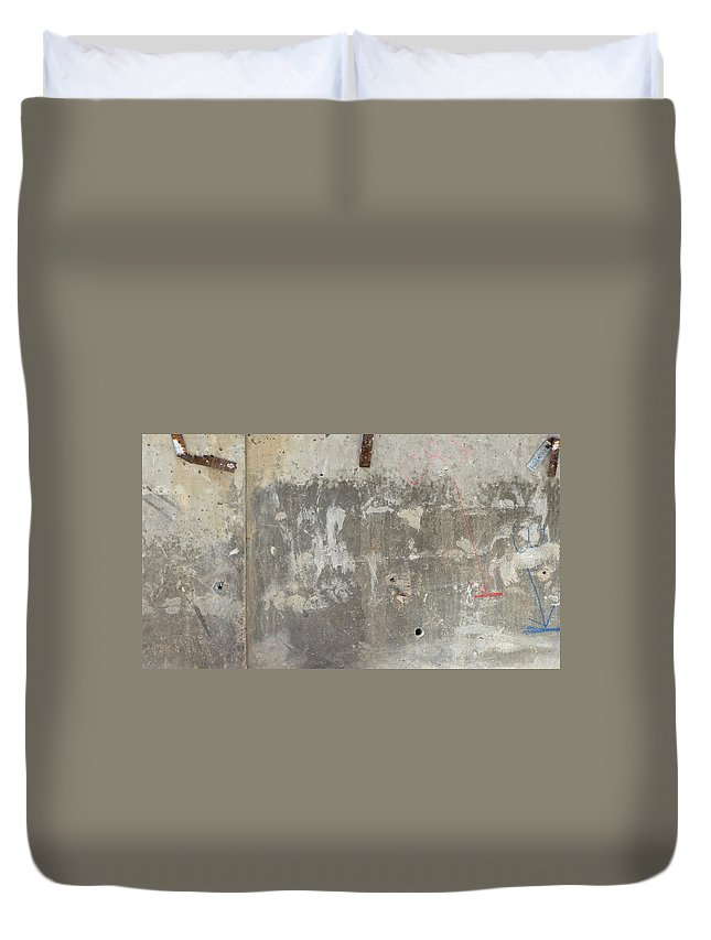 Urban Duvet Cover featuring the photograph Urban Abstract Construction 3 by Anita Burgermeister