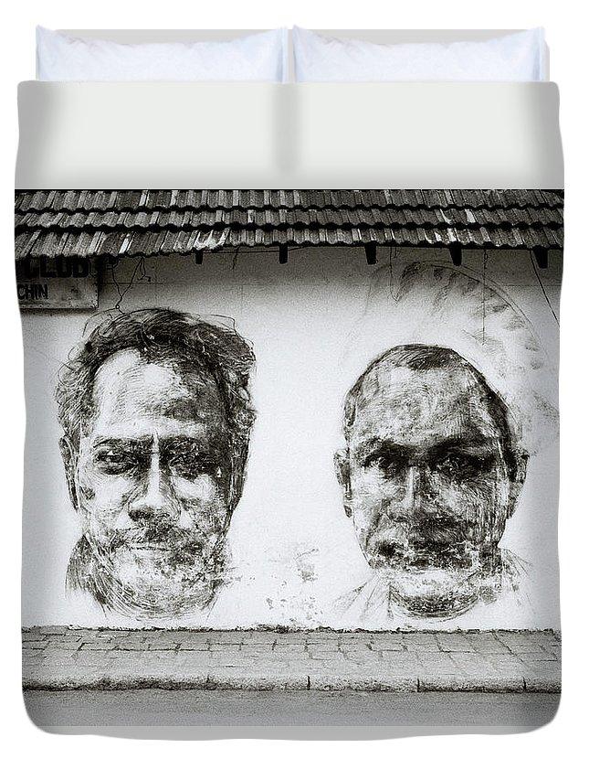 Graffiti Duvet Cover featuring the photograph Urban Art In Cochin by Shaun Higson