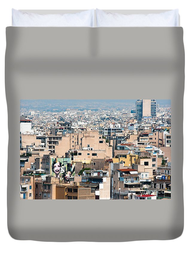 2011 Duvet Cover featuring the photograph Urban Athens by Andrew Michael