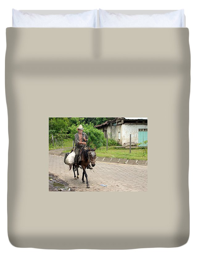 Worker Duvet Cover featuring the photograph Urban Cowboy by David Beebe