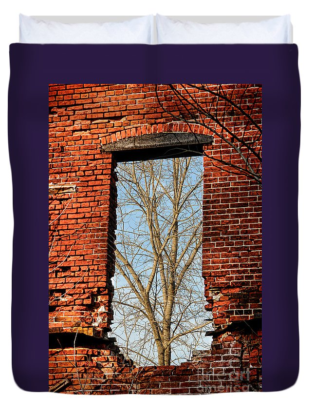 Window Duvet Cover featuring the photograph Urban Decay by Olivier Le Queinec