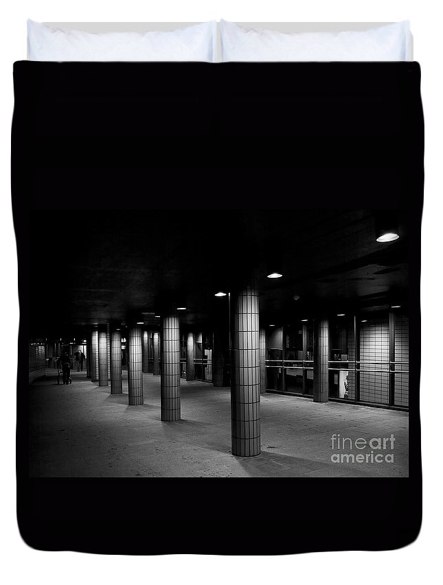 Festblues Duvet Cover featuring the photograph Urban Silence.. by Nina Stavlund