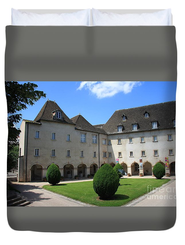Convent Duvet Cover featuring the photograph Ursulinen Convent - Macon by Christiane Schulze Art And Photography