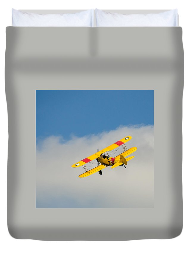 Aviation Duvet Cover featuring the photograph Us Navy N2s-5 by Guy Whiteley