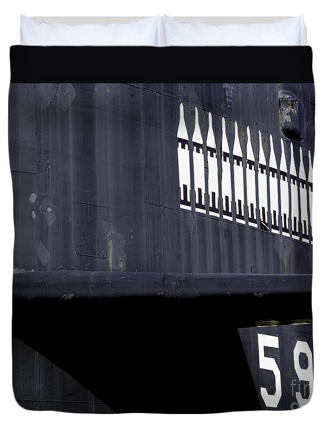 Submarine Duvet Cover featuring the photograph U.s. Submarine Museum 2 by Joe Geraci