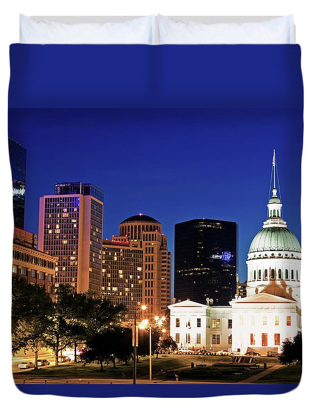 Scenics Duvet Cover featuring the photograph Usa, Missouri, St Louis, Old by Henryk Sadura