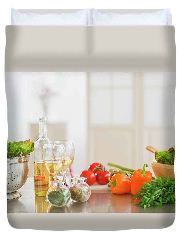 Cutting Board Duvet Cover featuring the photograph Usa, New Jersey, Jersey City, Close Up by Daniel Grill