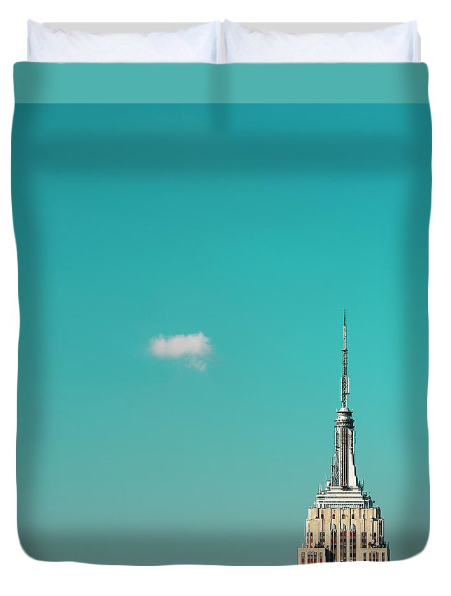 Outdoors Duvet Cover featuring the photograph Usa, New York City, Empire State by Tetra Images