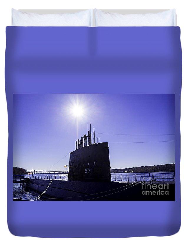 Submarine Duvet Cover featuring the photograph U.s.s. Nautilus by Joe Geraci