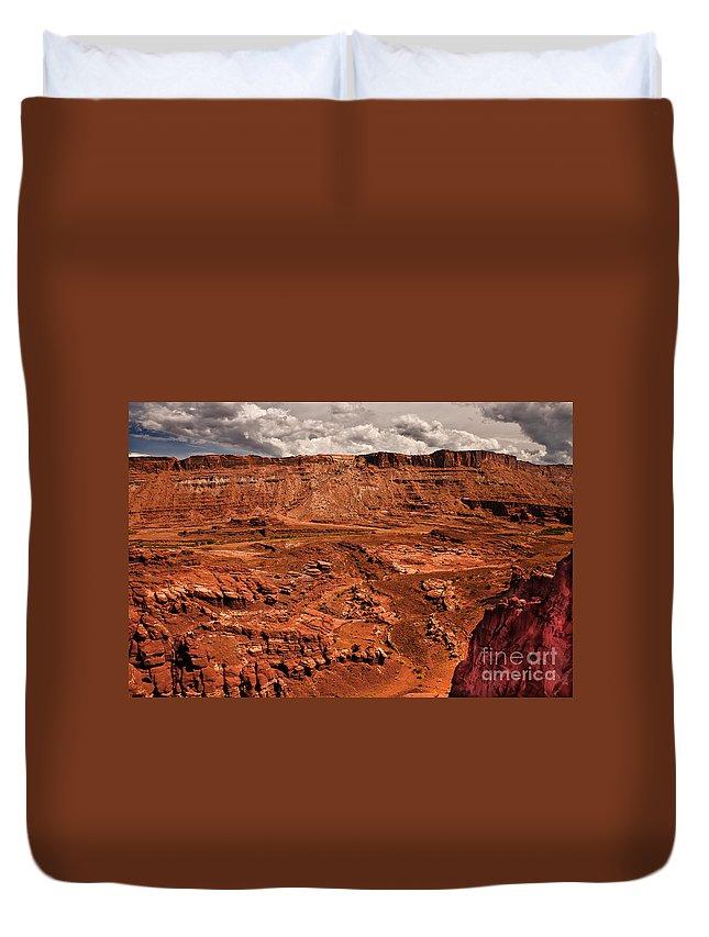 Landscape Duvet Cover featuring the photograph Utah Rocks by Robert Bales