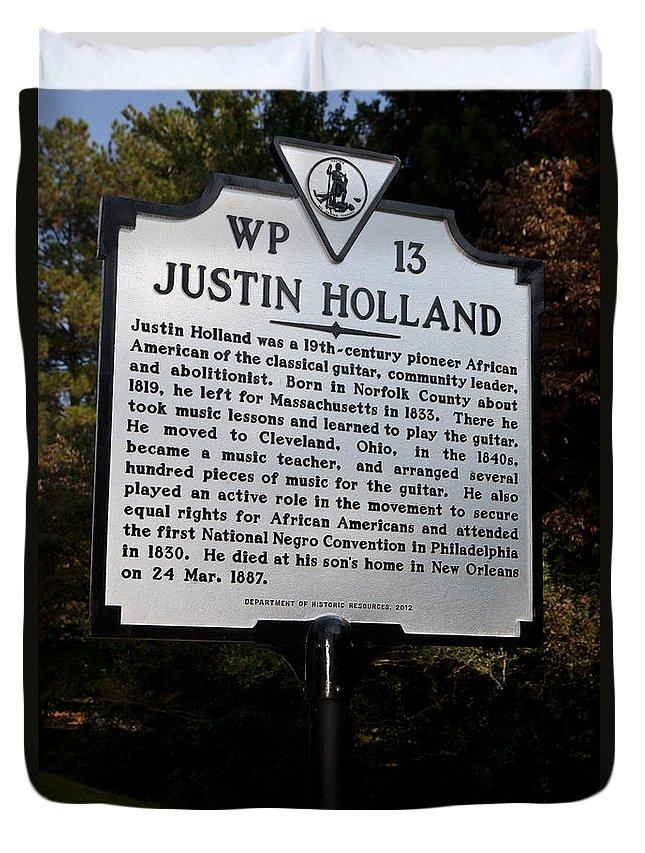 Justin Holland Duvet Cover featuring the photograph Va-wp13 Justin Holland by Jason O Watson