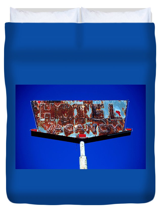 Duvet Cover featuring the photograph Vacancy by Jennifer Ann Henry