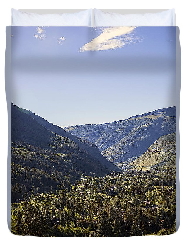 Vail Duvet Cover featuring the photograph Vail In Summer by Madeline Ellis