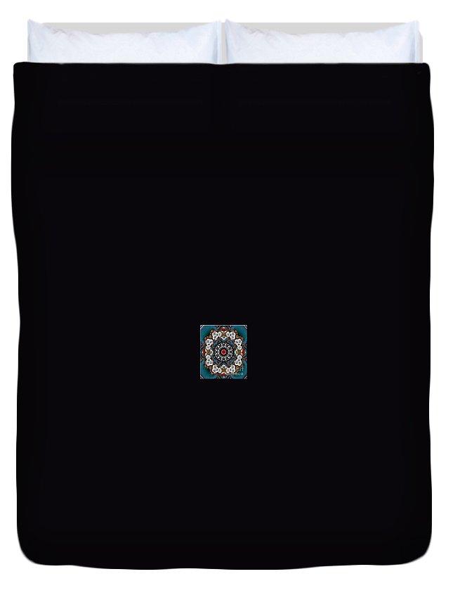 Meditation Duvet Cover featuring the photograph Vajrasattva Mandala Yantra by Marie Jamieson