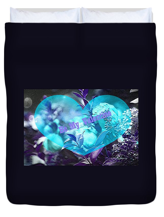 Valentine Duvet Cover featuring the photograph Valentine 03 by Ericamaxine Price