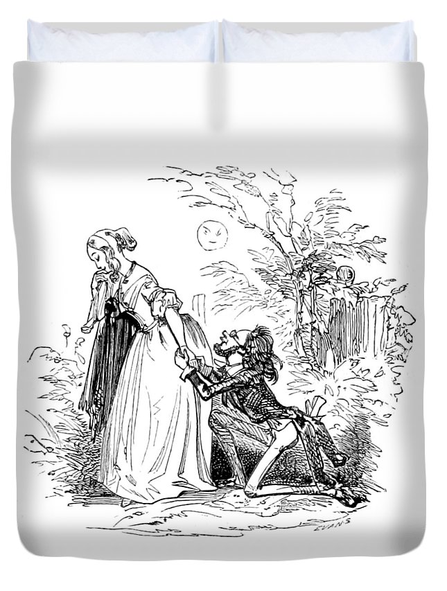 Holiday Duvet Cover featuring the photograph Valentines Day, 1855 by British Library