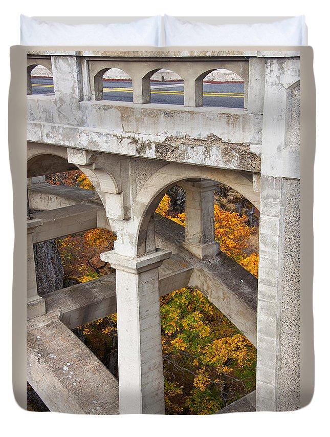 Bridge Duvet Cover featuring the photograph Valley Bridge 3 by Dana Kern