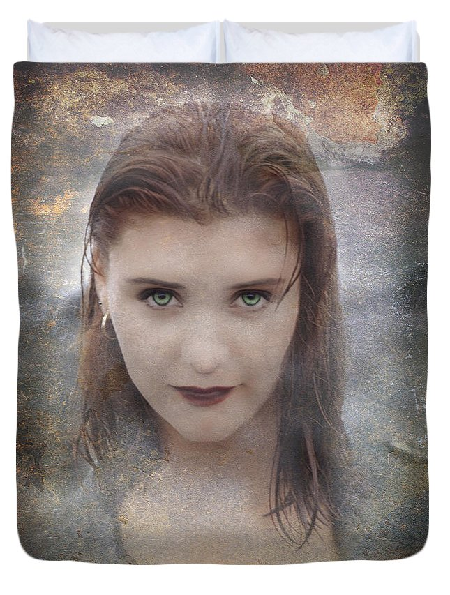 Vampire Duvet Cover featuring the photograph Vamp by Bruce Stanfield