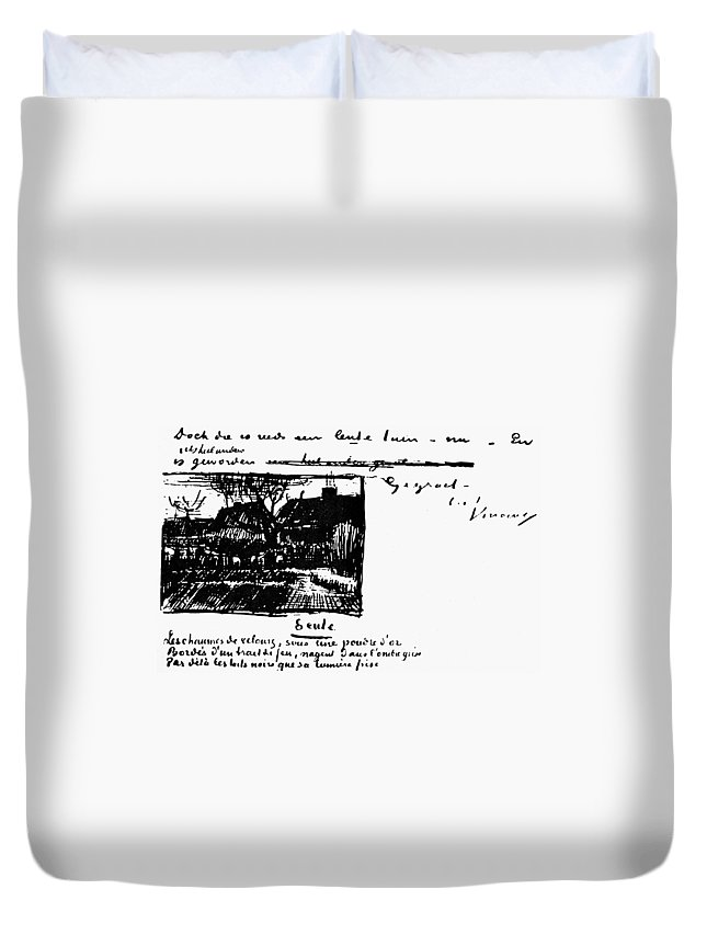 19th Century Duvet Cover featuring the painting Van Gogh Letter by Granger