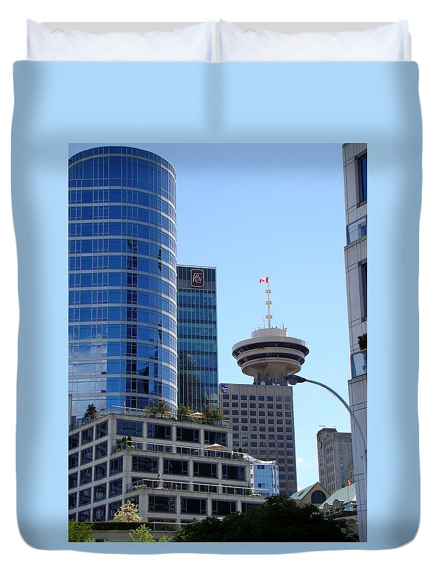 Vancouver Duvet Cover featuring the photograph Vancouver Architecture 2 by Richard Rosenshein