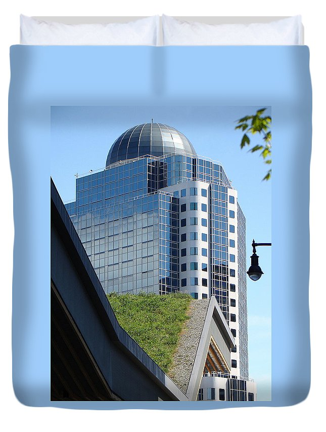 Vancouver Duvet Cover featuring the photograph Vancouver Architecture 6 by Richard Rosenshein