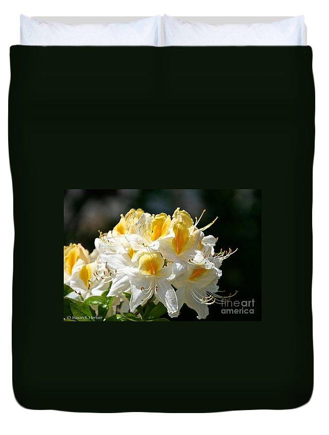 Flower Duvet Cover featuring the photograph Vanilla Butterscotch by Susan Herber
