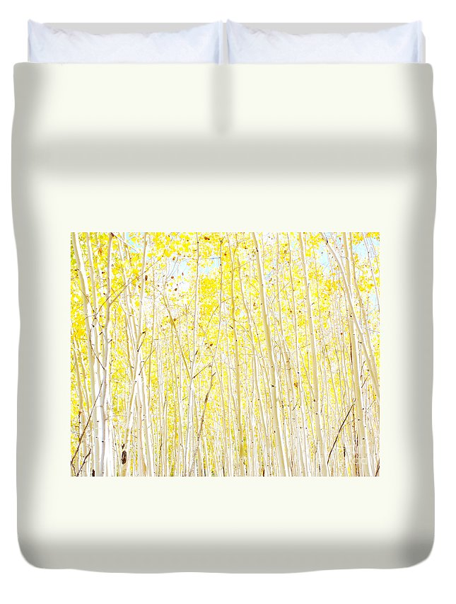 Yellow Duvet Cover featuring the photograph Vanilla Cake by Ruth Jolly