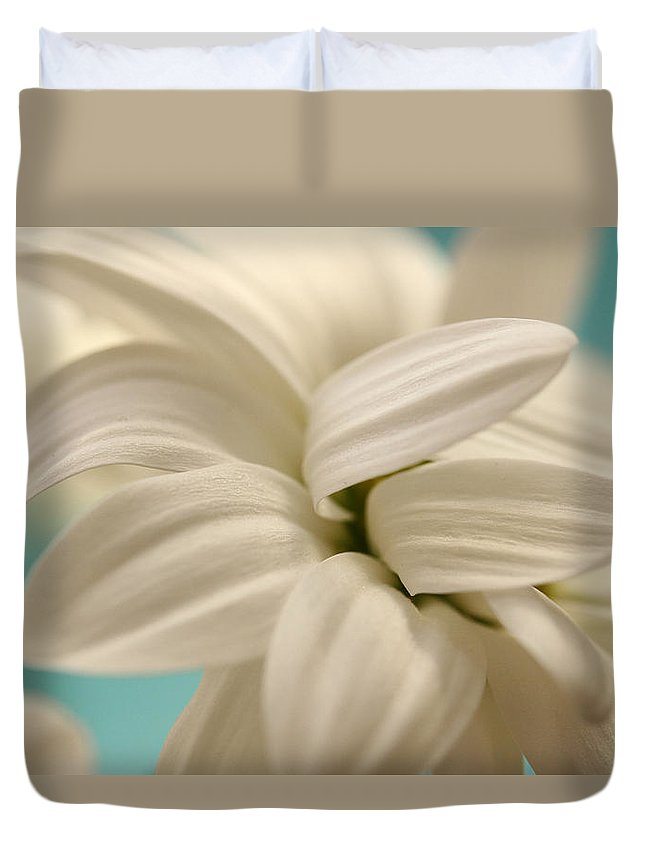 Chrysanthemum Duvet Cover featuring the photograph Vanilla Whip by Connie Handscomb
