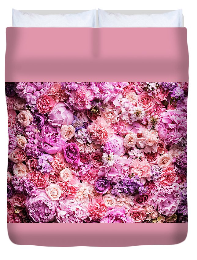 Tranquility Duvet Cover featuring the photograph Various Cut Flowers, Detail by Jonathan Knowles