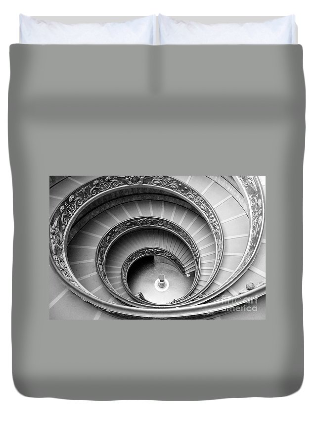 Abstract Duvet Cover featuring the photograph Vatican Spiral by Crystal Nederman
