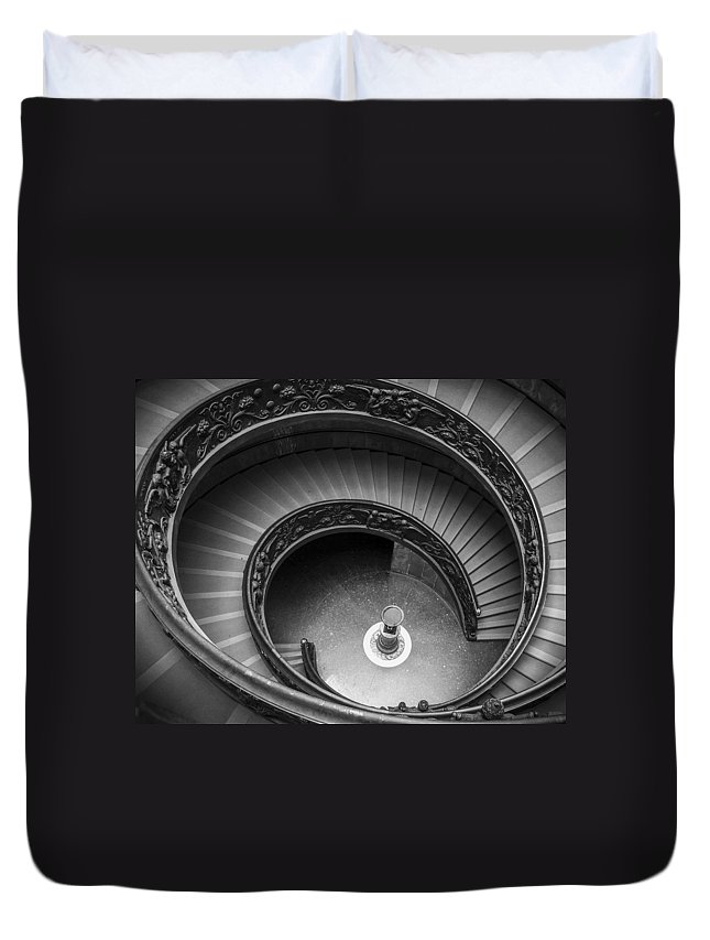 3scape Photos Duvet Cover featuring the photograph Vatican Stairs by Adam Romanowicz