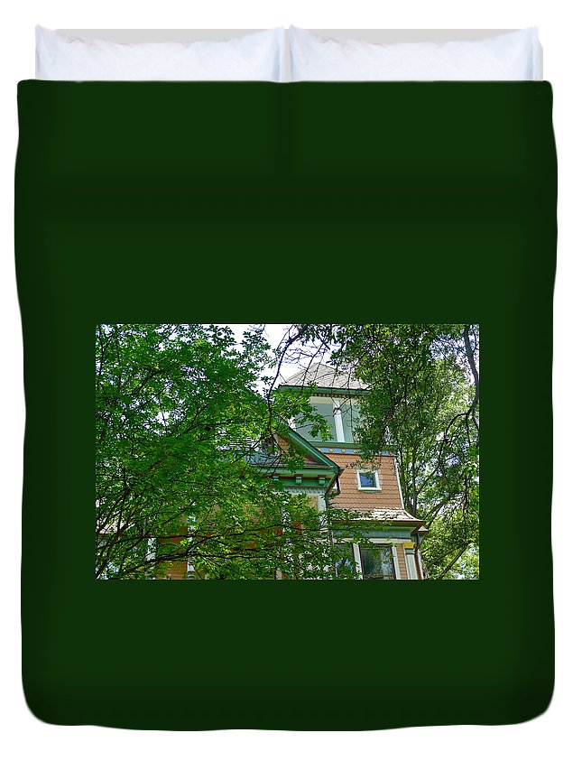 House Duvet Cover featuring the photograph Veiled Victorian by Denise Mazzocco
