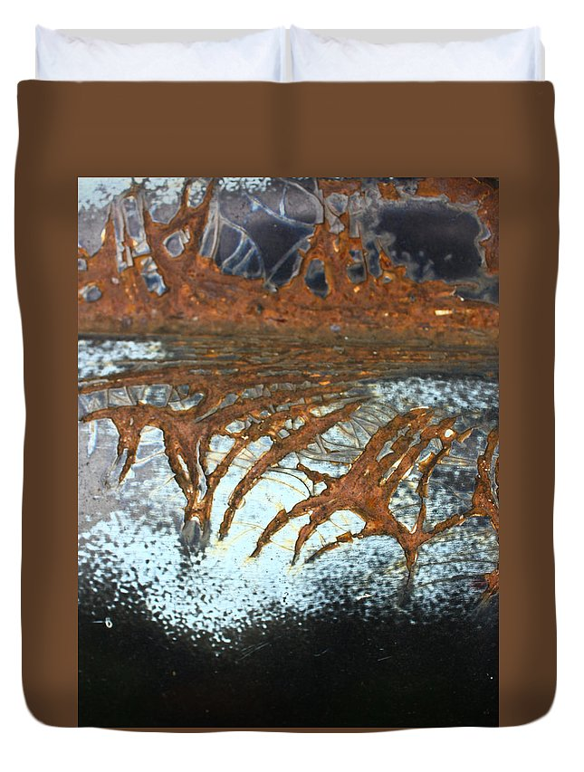 Abstract Duvet Cover featuring the photograph Veins To Clean by The Artist Project