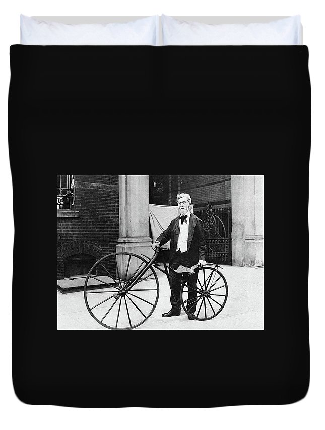 1914 Duvet Cover featuring the photograph Velocipede, 1914 by Granger