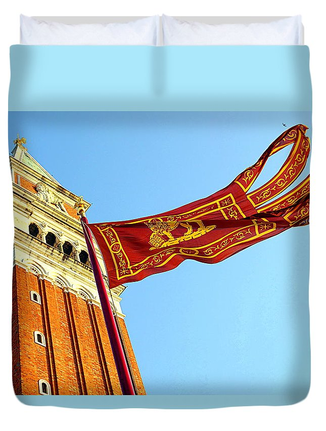 Venice Duvet Cover featuring the photograph Venetian Freedom by Valentino Visentini