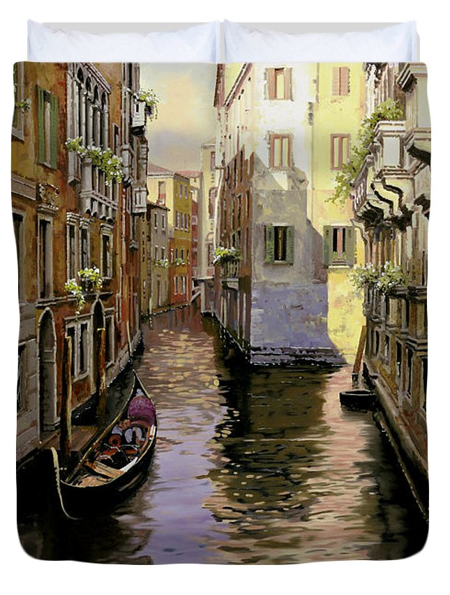 Venice Duvet Cover featuring the painting Venezia Chiara by Guido Borelli