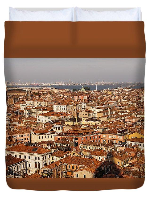 Georgia Mizuleva Duvet Cover featuring the photograph Venice Italy - No Canals by Georgia Mizuleva