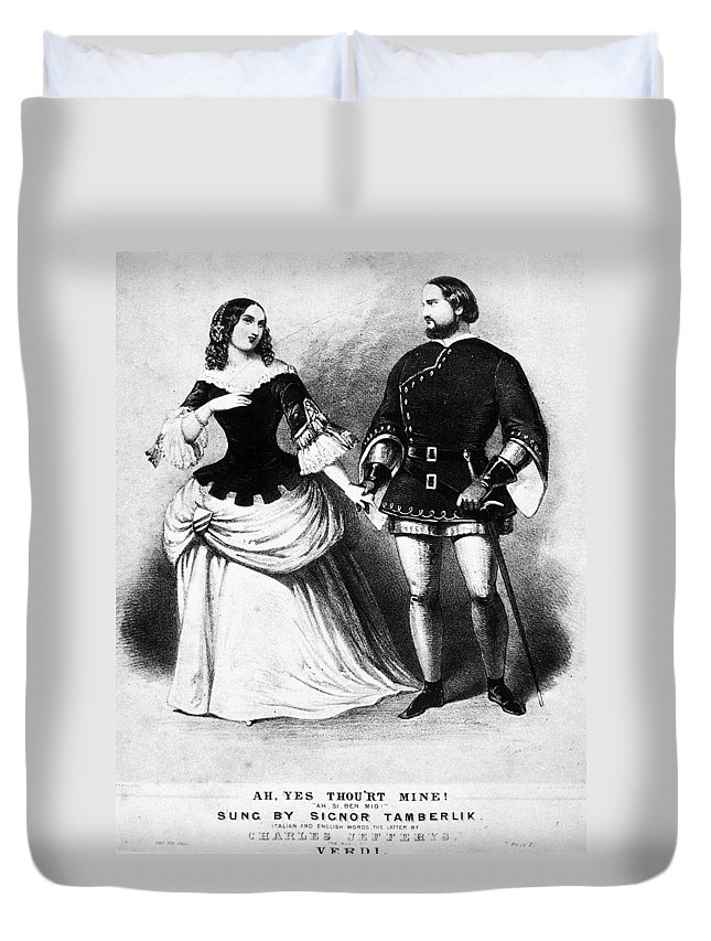 19th Century Duvet Cover featuring the painting Verdi Il Trovatore by Granger