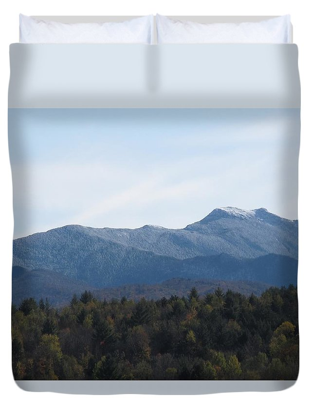 Mountains Duvet Cover featuring the photograph Vermont Mountains by Barbara McDevitt