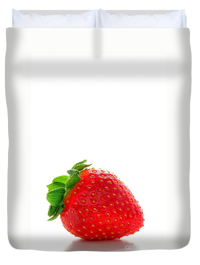 Strawberry Duvet Cover featuring the photograph Very Strawberry by Olivier Le Queinec